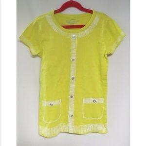 Crewcuts Collectible T Yellow Top 14 Sequins